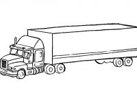 Truck and Trailer Coloring Pages - Sitemap Play & Learn