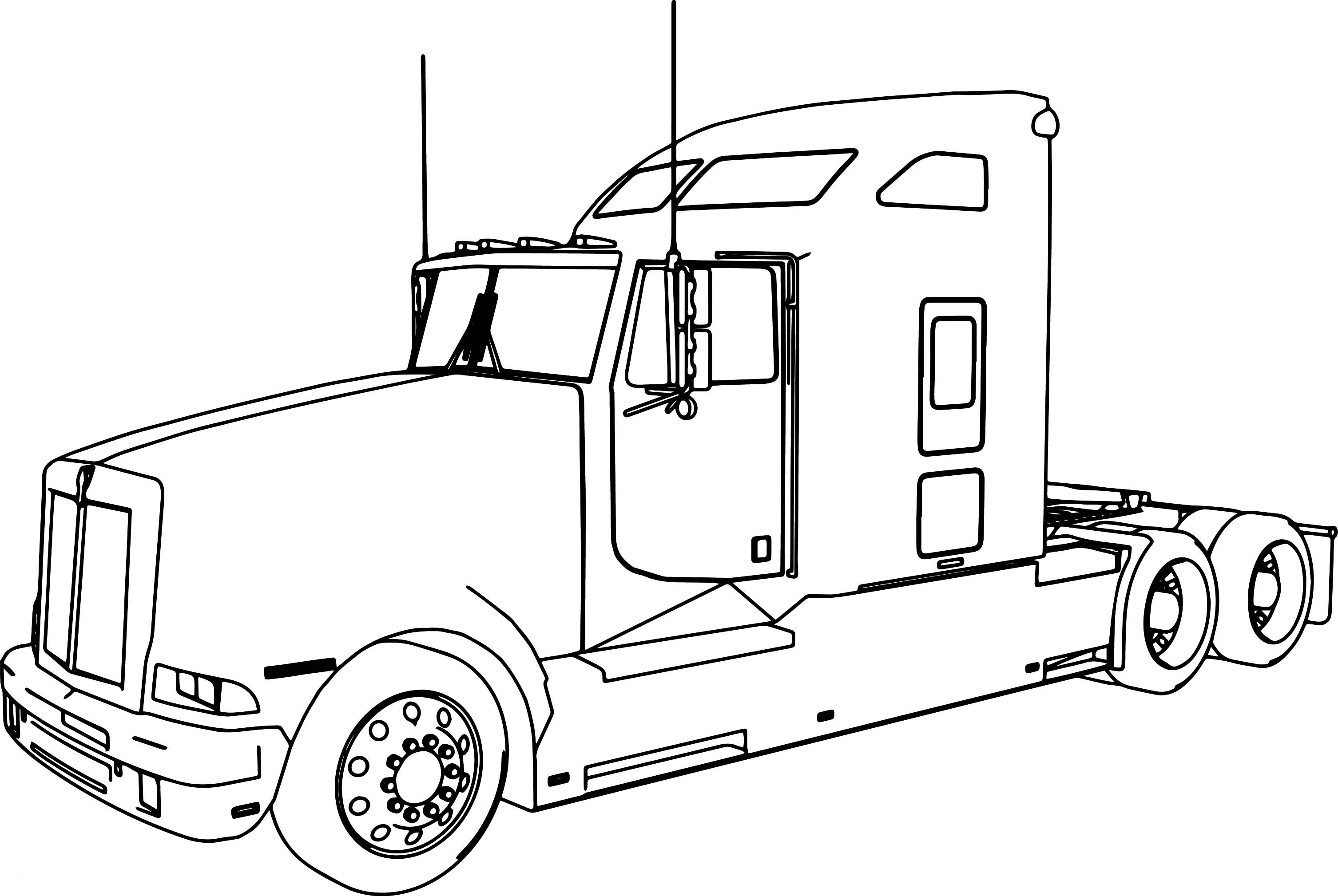 Truck and Trailer Coloring Pages  Collection 3c - Free Download