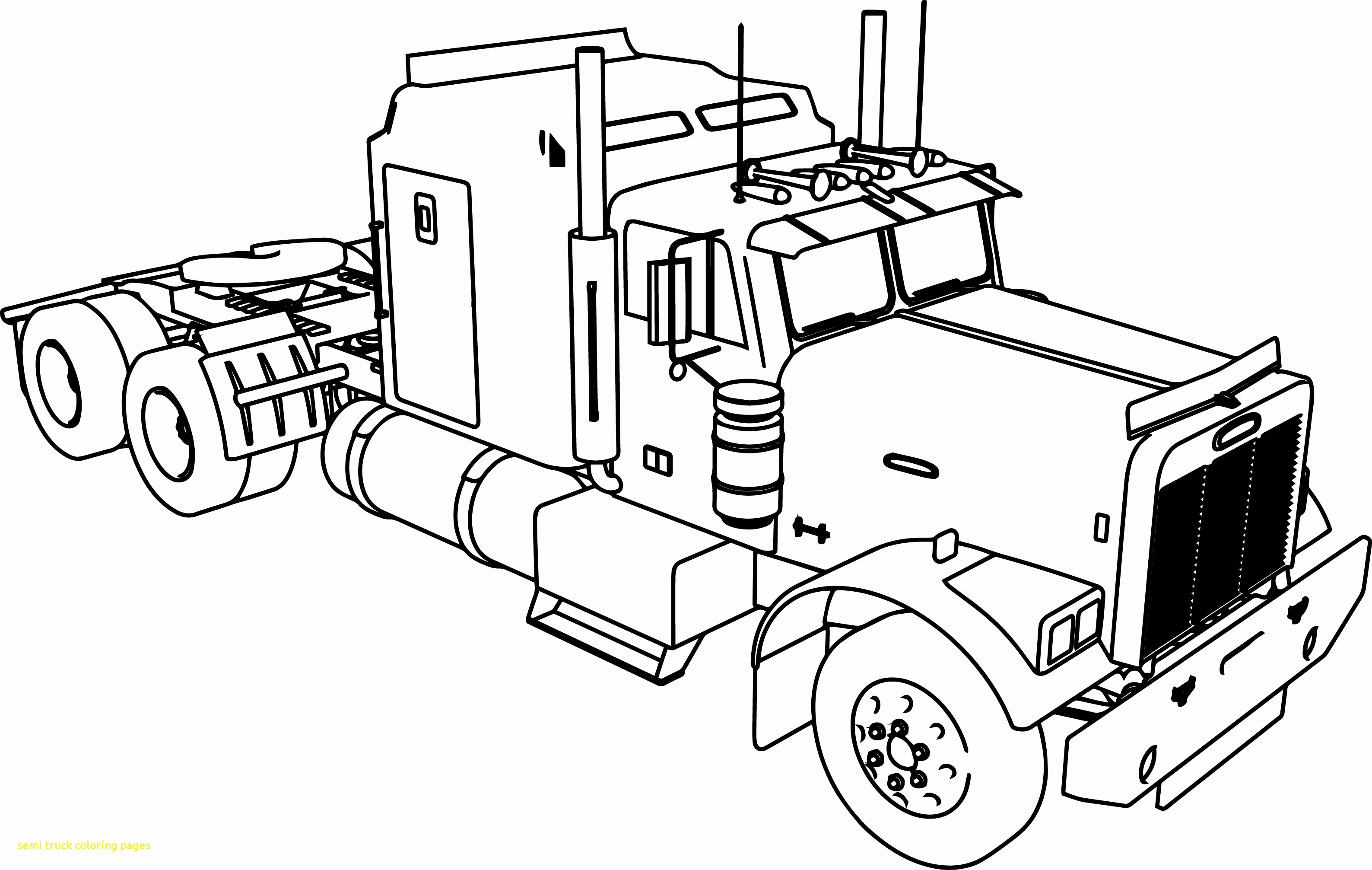 Truck and Trailer Coloring Pages  Collection 16p - To print for your project