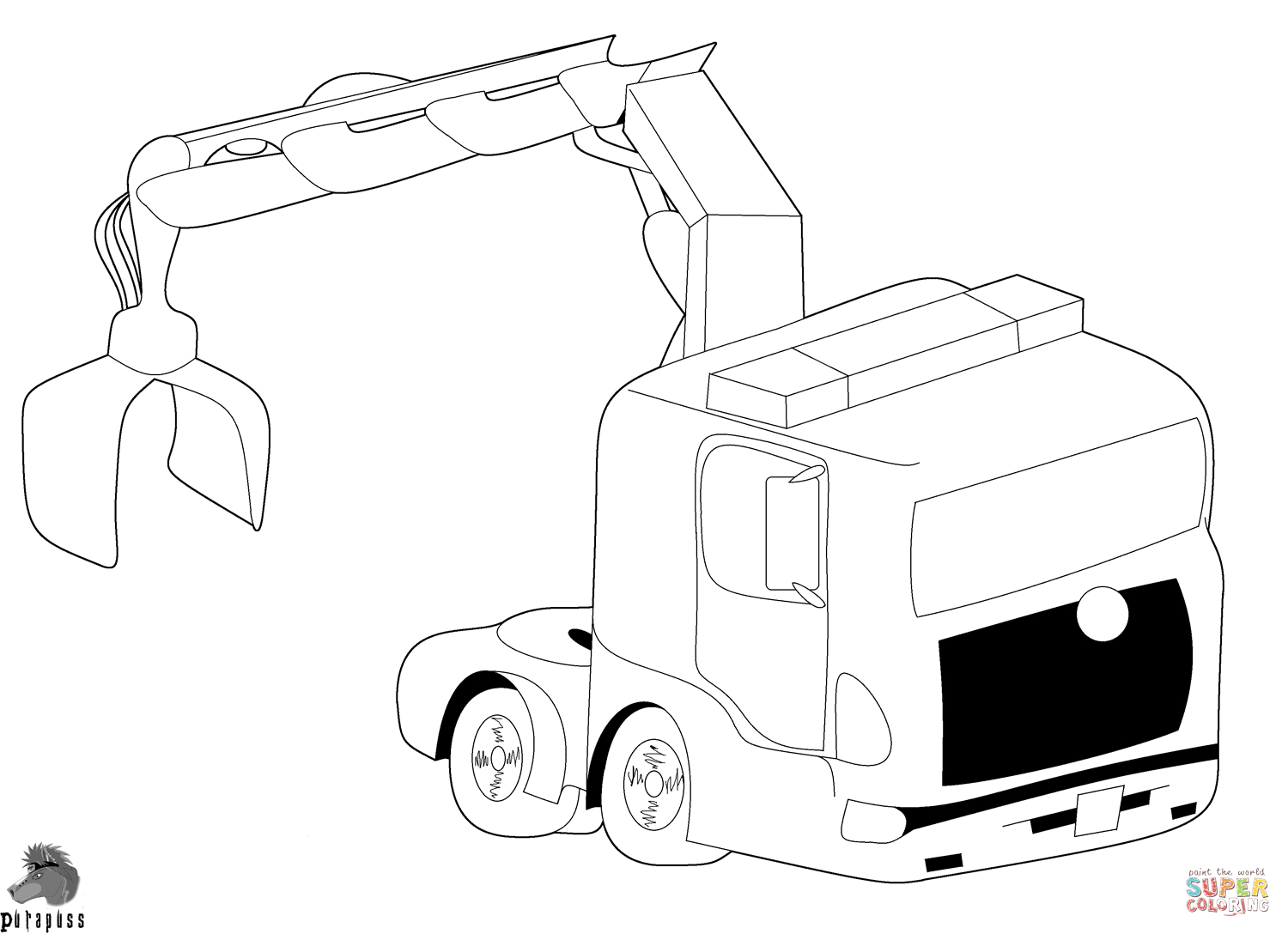 Truck and Trailer Coloring Pages  Collection 14n - Free For Children