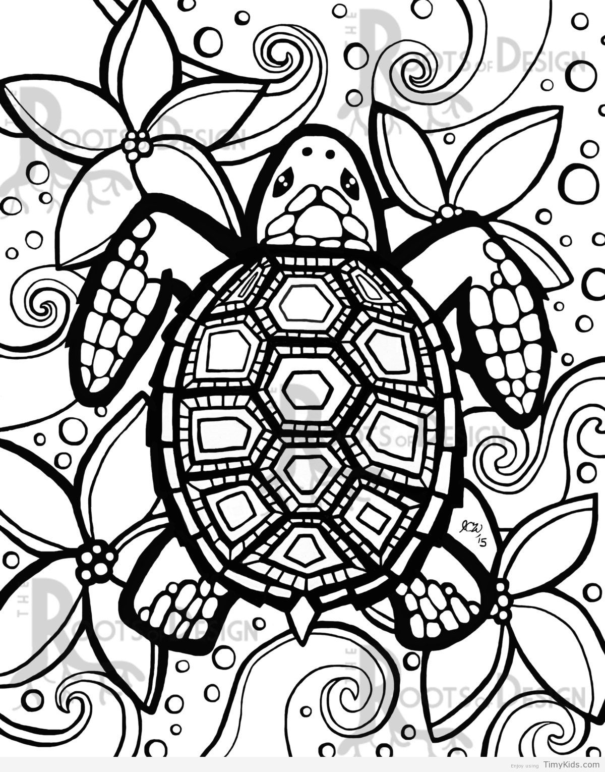 Turtle Coloring Pages  Download 12n - Free For kids