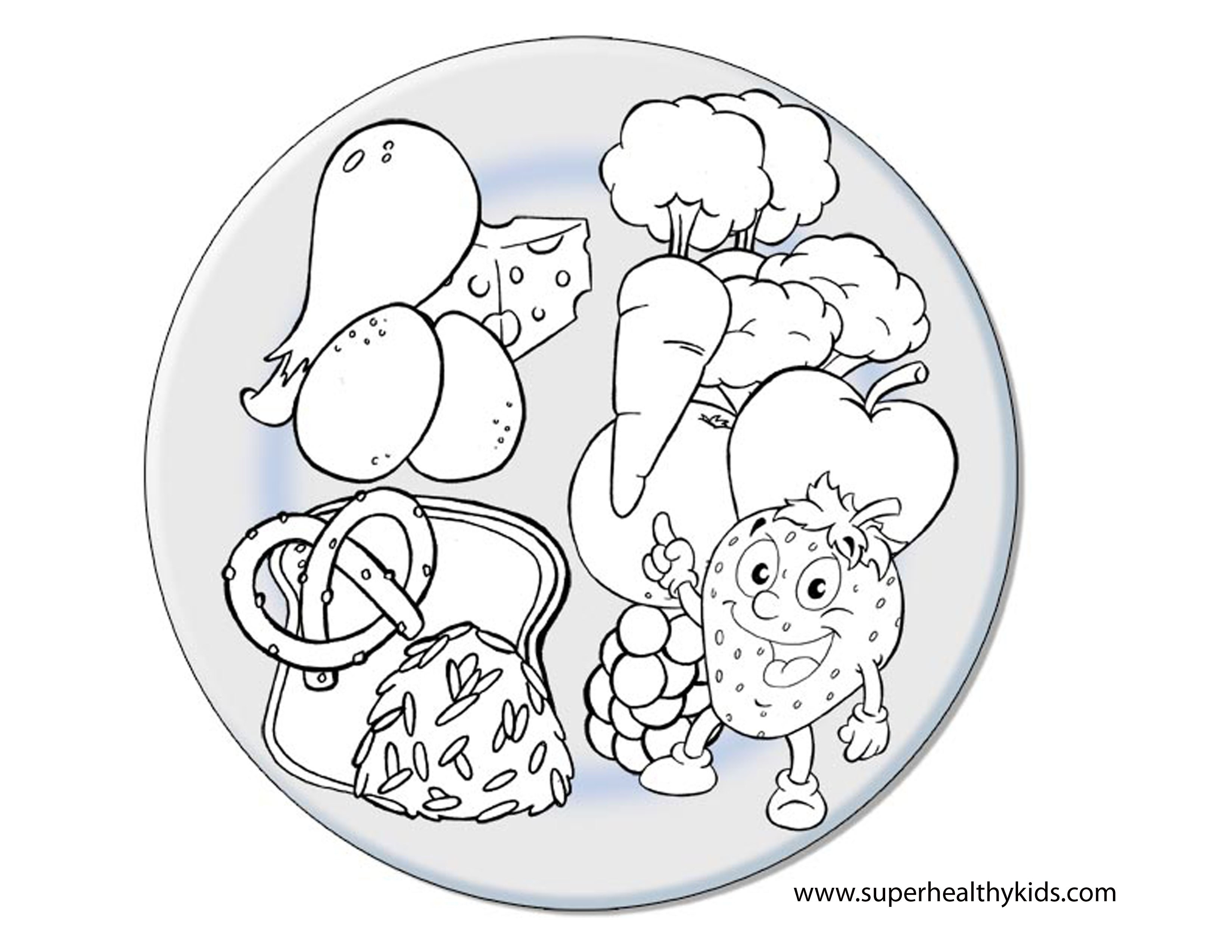 Unhealthy Food Coloring Pages  Collection 4l - To print for your project