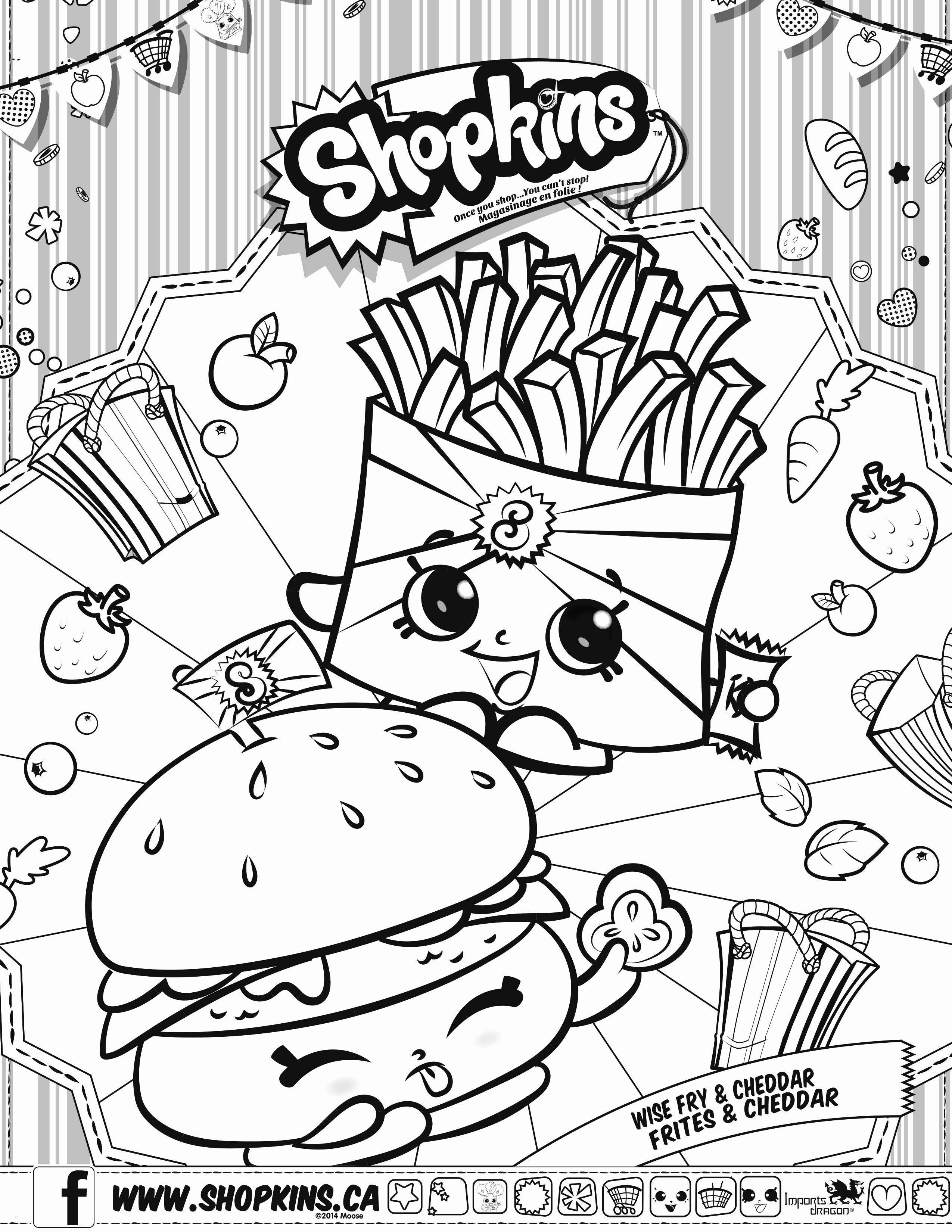 Unhealthy Food Coloring Pages  Collection 20p - Save it to your computer