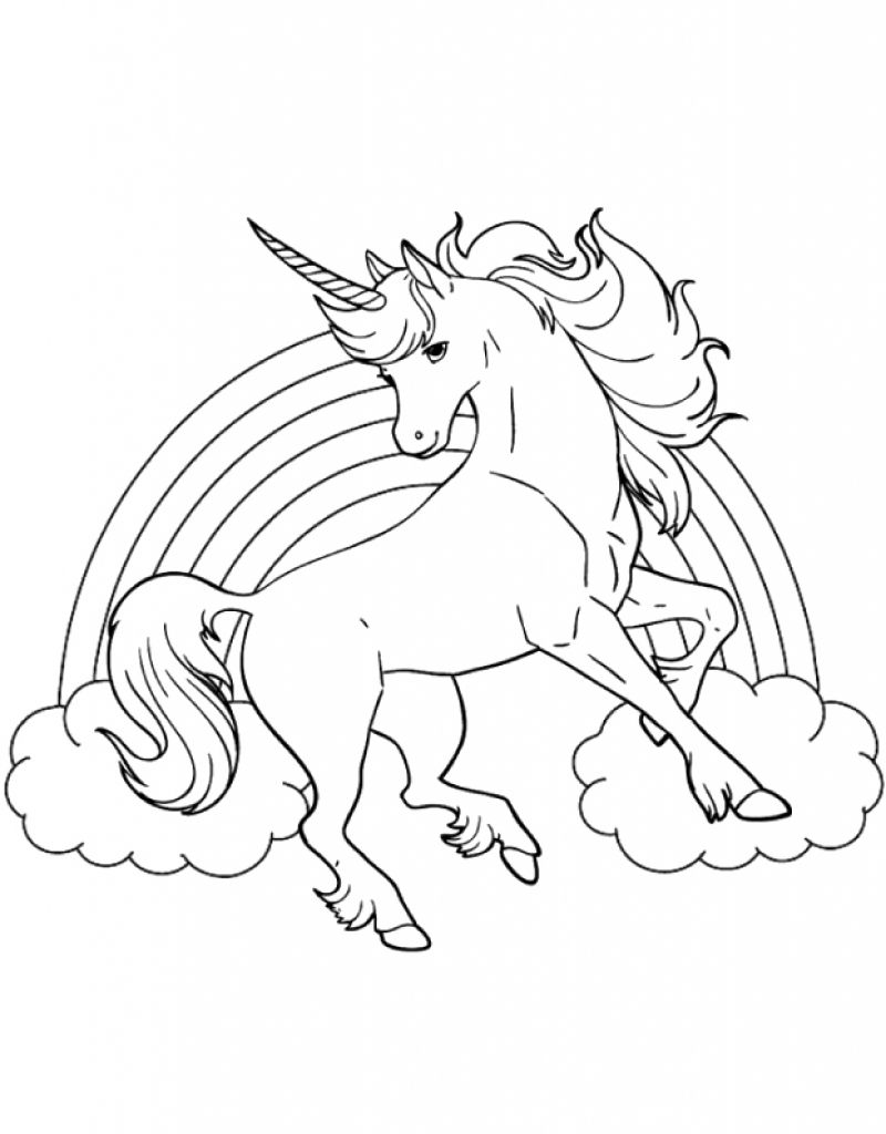 Unicorn Coloring Book Pages  Download 16o - To print for your project
