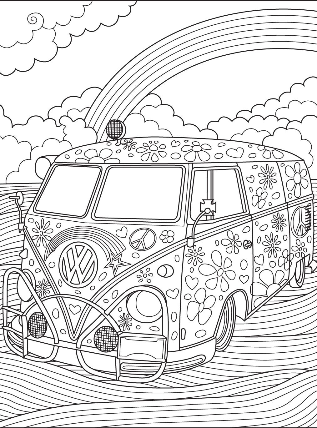Volkswagen Beetle Coloring Pages  Collection 15f - Free For Children