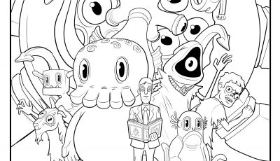 Walking Dead Coloring Pages - Free C is for Cthulhu Coloring Sheet Cool Thulhu