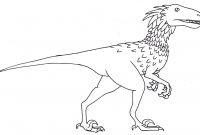 Walking with Dinosaurs Coloring Pages - Deinonychus Coloring Page Dinosaur Pinterest