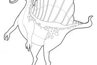 Walking with Dinosaurs Coloring Pages - Spinosaurus Coloring Pages Hellokids