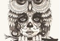 Wallpaper Coloring Pages - A Picture A Owl Beautiful Skull Owl Wallpaper by Jokergirl29 0d