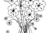 Wallpaper Coloring Pages - Lovely Flower and butterfly