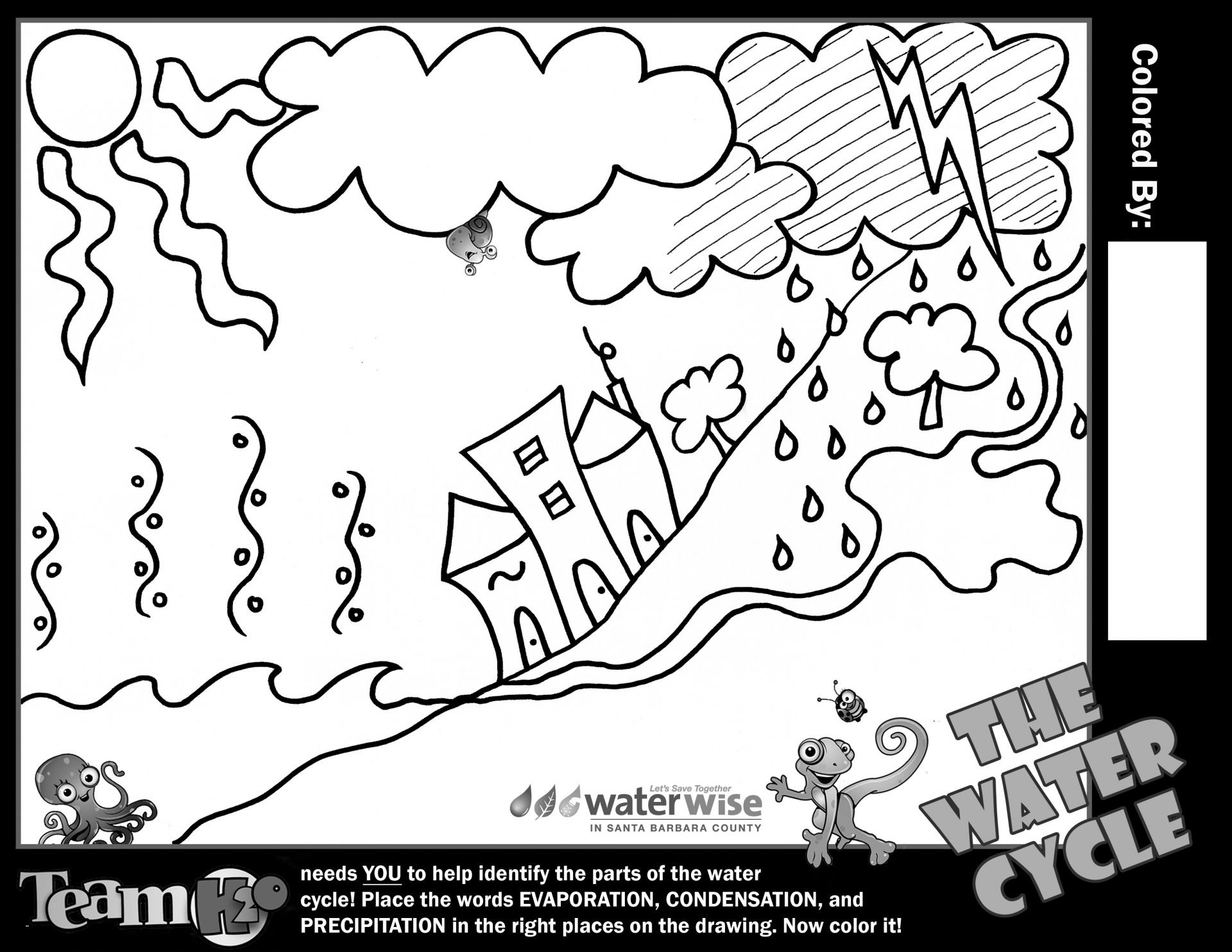 Water Cycle Coloring Pages  Download 8c - Save it to your computer