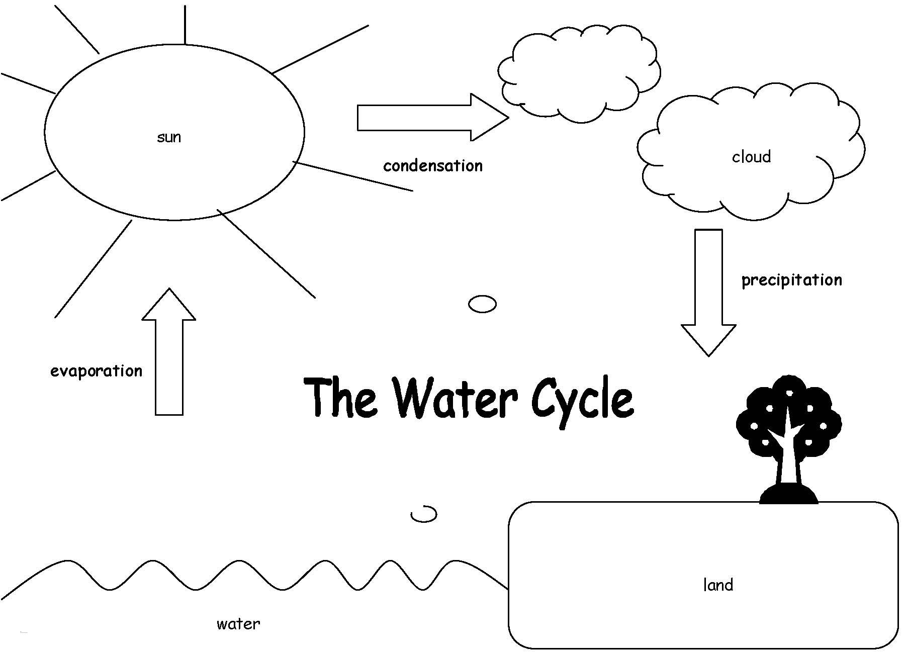 Water Cycle Coloring Pages  Download 13r - Free For kids