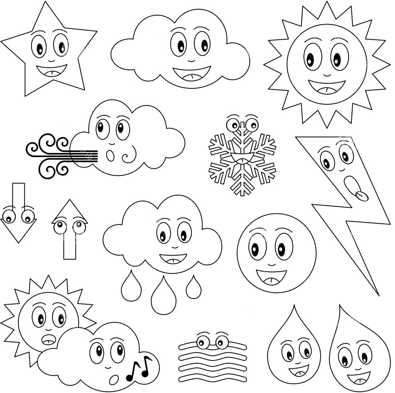 Weather Coloring Pages  Download 16t - Free Download