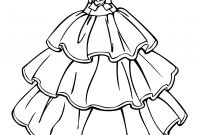 Wedding Dress Coloring Pages - Desvendar Coloring Pages