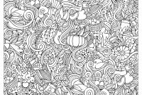 Wild Turkey Coloring Pages - Hand Drawn Doodles to Color On the Subject Of Thanksgiving & Autumn