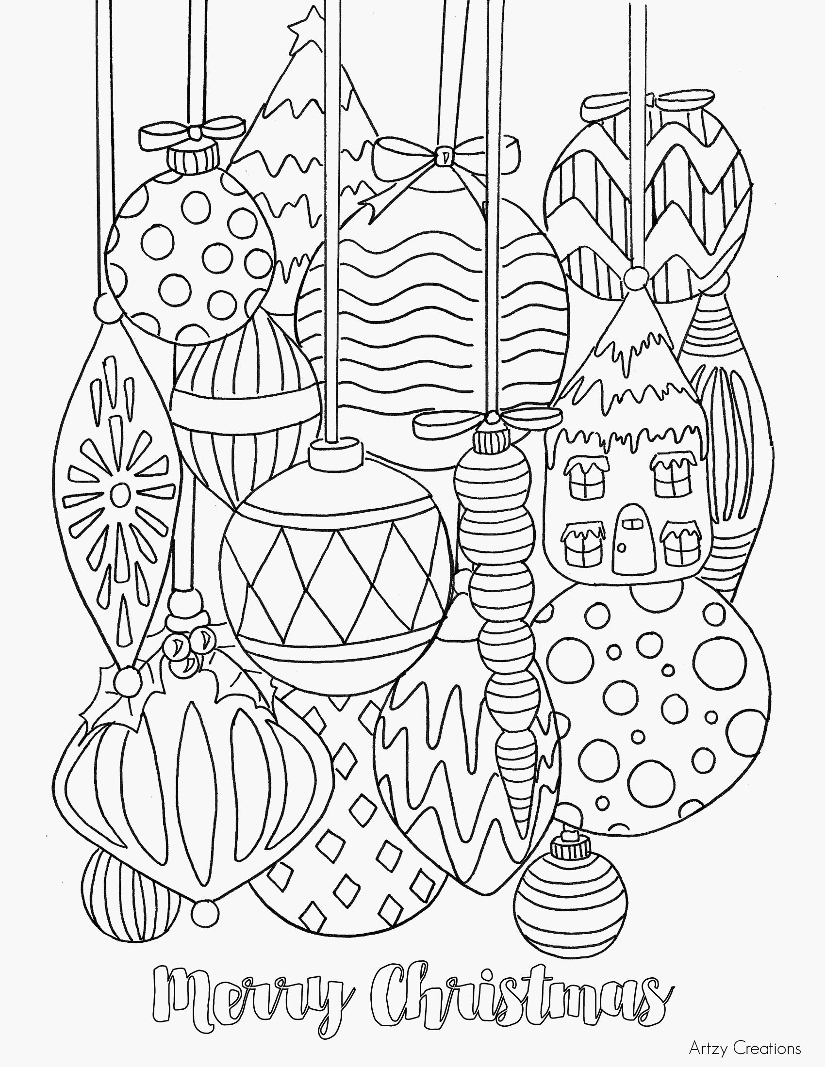 Winter Scene Coloring Pages  to Print 2m - Free For Children
