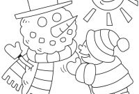 Winter Scene Coloring Pages - Winter Coloring Page Print Winter Pictures to Color at