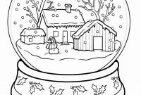 Winter Scene Coloring Pages - Winter Scene Coloring Pages Christmas Scenes Coloring Pages