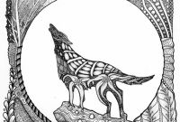 Wolf Coloring Pages - Alert Famous Wolf Coloring Pages Printable Get This for Adults Free