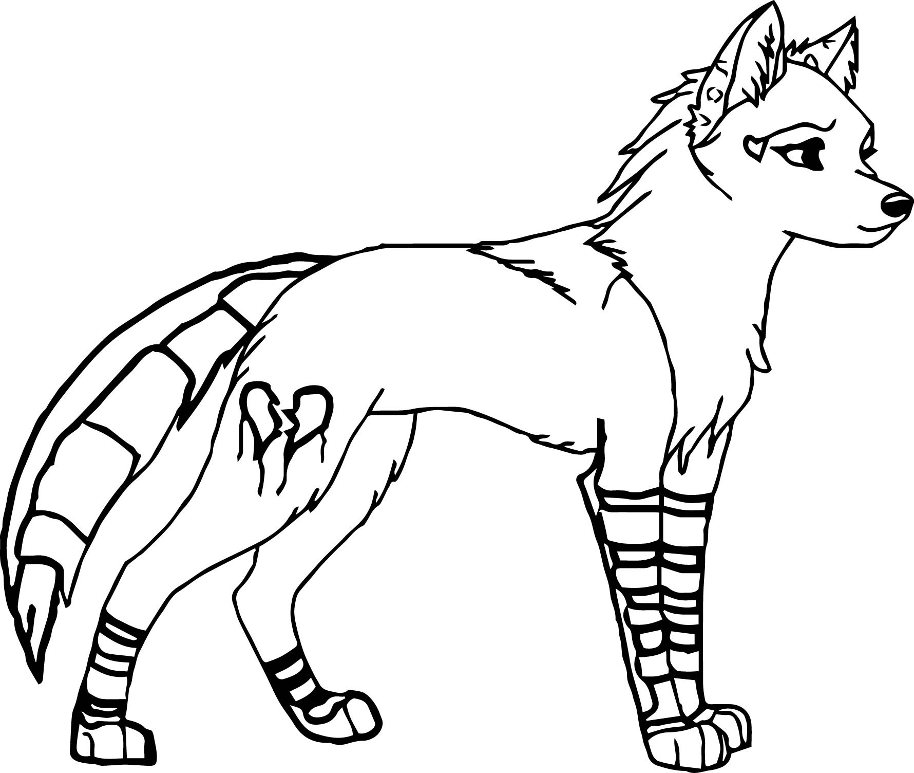 Wolf Coloring Pages  to Print 17f - Free For Children
