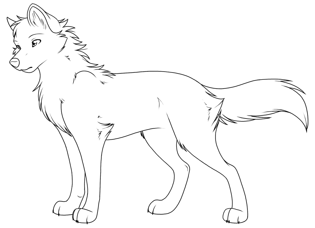 Wolf Coloring Pages Realistic  Collection 4f - Save it to your computer