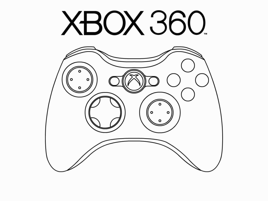 Xbox Coloring Pages  Gallery 4o - Save it to your computer