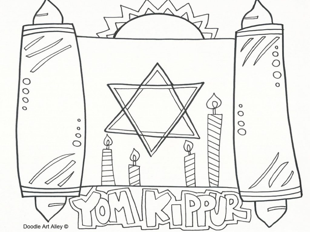 Yom Kippur Coloring Pages  Collection 8l - To print for your project