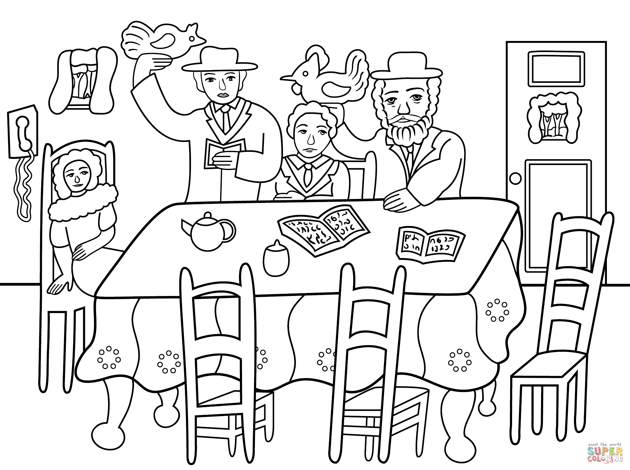 Yom Kippur Coloring Pages Collection | Free Coloring Sheets