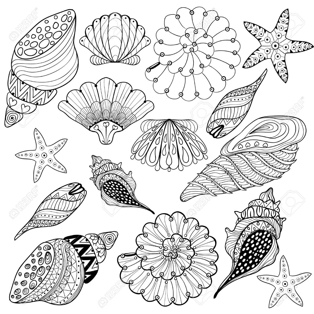 Zentangle Coloring Pages  Printable 1d - Free Download