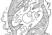 Zentangle Coloring Pages - Dolphin Zentangle Coloring Page Art Projects