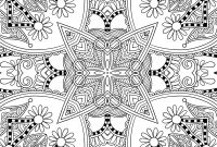 Zentangle Coloring Pages - Floral Design Adult Coloring Page Zentangle Mandalas