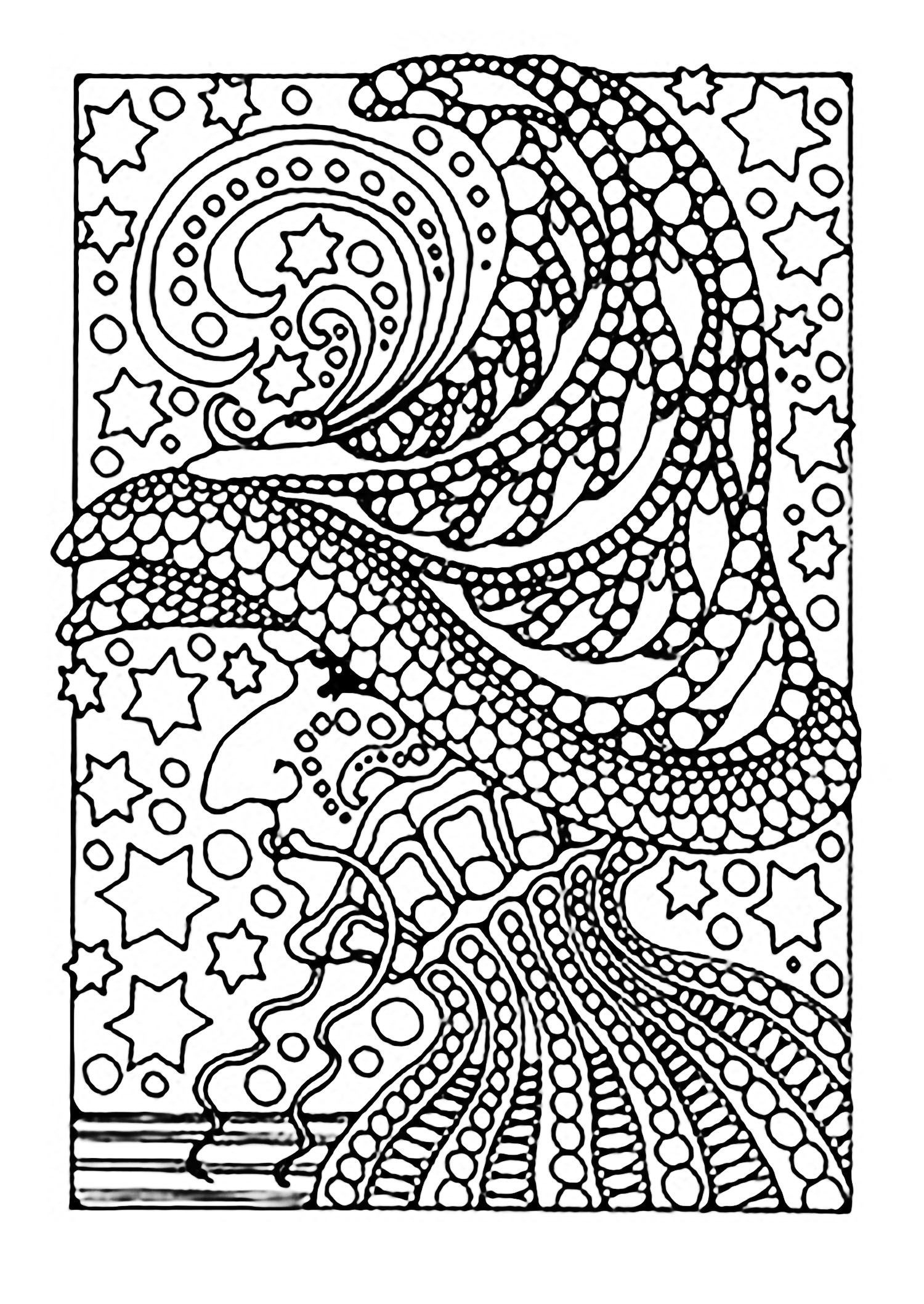 Zentangle Coloring Pages  Printable 18o - Free For kids