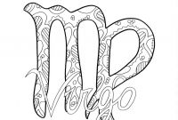 Zodiac Signs Coloring Pages - Virgo Print Pinterest